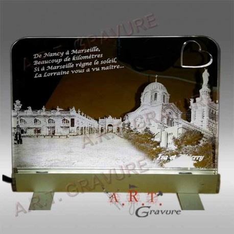 Photo gravée sur plexiglas transparent